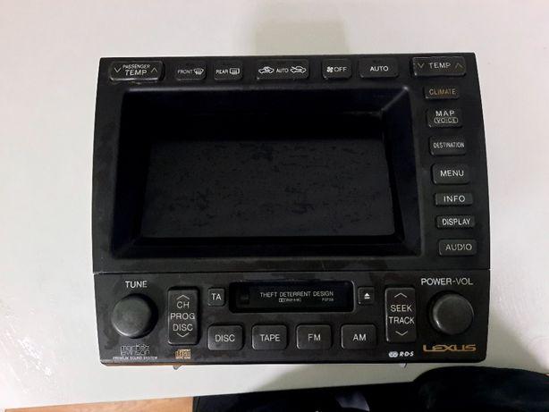Штатная магнитола,монитор,усилитель управление кимат контролем lexus