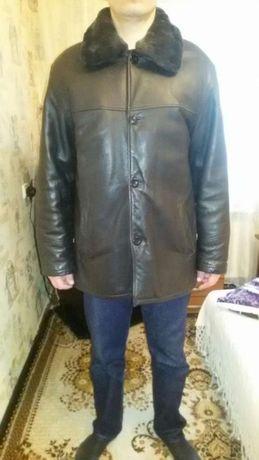 Куртка кожаная с (подстёжкой) Цена снижена.