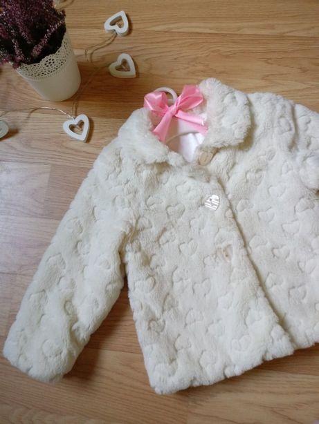 Płaszczyk płaszcz futerko mothercare r 104