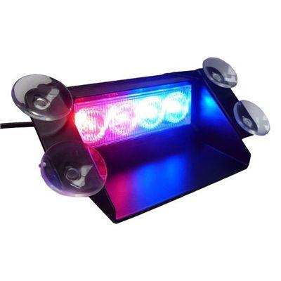 Stroboskop samochodowy 12V 4 LED red blue