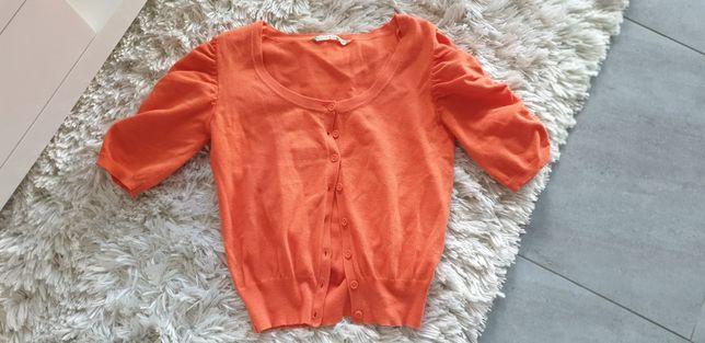 Pomarańczowy sweterek kardigan