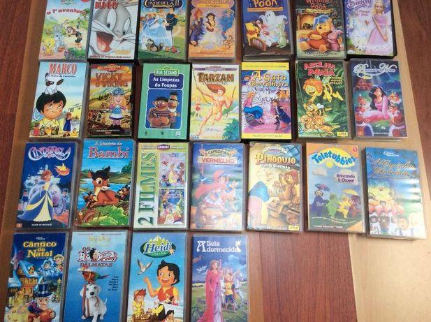 Cassetes de filmes infantis
