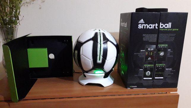 Умный футбольный мяч Adidas miCoach Smart Ball, цвет Черно-бело-зелены