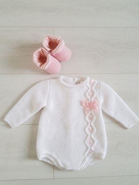 Милый свитерок-боди на девочку 3-6 мес и лосины next в подарок