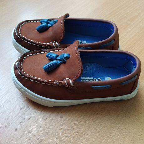 Стильные Туфли на мальчика, Мокасины ,натуральна кожа