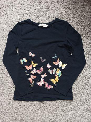 H&M bluzka z długim rękawem rozm.134/140