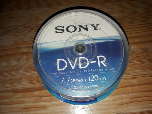 Nowe Płyty Sony DVD-R 25 szt. 4.7 GB 16x speed 25DMR47BSP