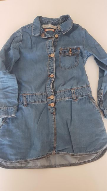 jeansowa sukienka tunika 110 5 lat