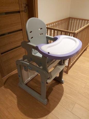 Krzesełko do karmienia Baby Design Candy fiolet szary