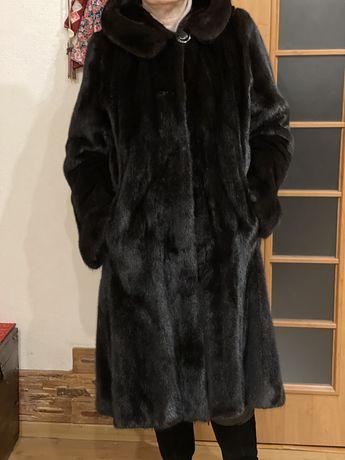 Шикарная длинная норковая шуба