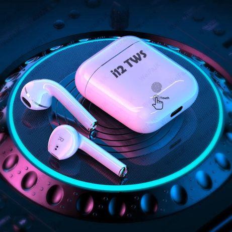 AirPods Bluetooth НАУШНИКИ блютуз гарнитура I12 tws Power Bank ПОДАРОК