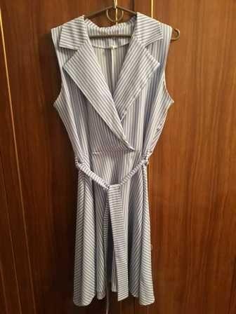 Платье на запах на груди L-Xl