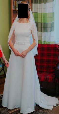 Biała suknia ślubna, Margarett, rozmiar 34/36