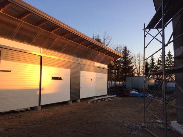 Garaz wiata z plyty warstwowej