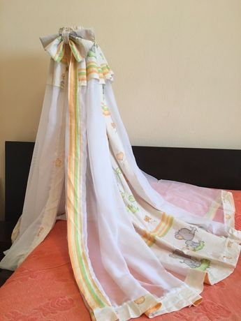 Балдахин на детскую кроватку Персиковый Слоник