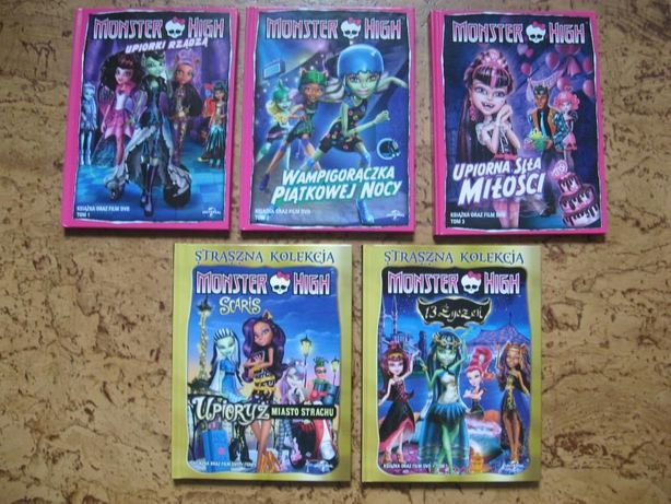 MONSTER HIGH - film DVD/książka - 5 szt +gratis