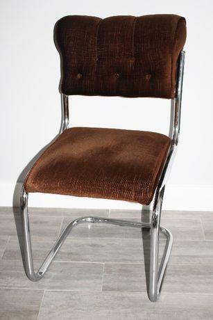 Cadeira Vintage - Castanha - Design - Cromado