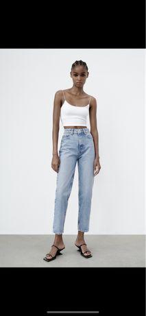 Новые джинсы мом zara