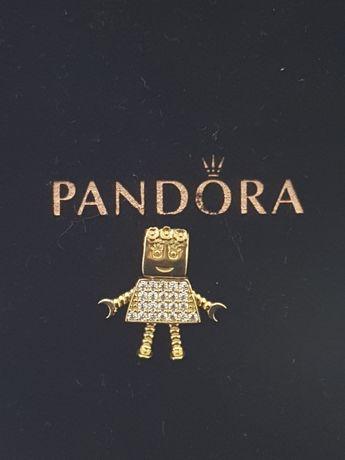 Złoty element charms na bransoletkę Pandora 14k.Nowy (240)