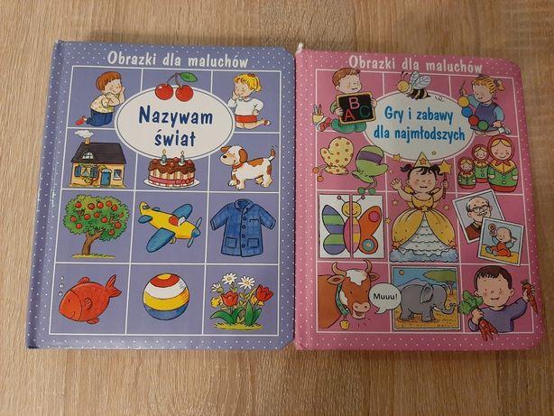 Książeczki Obrazki dla maluchów 2szt