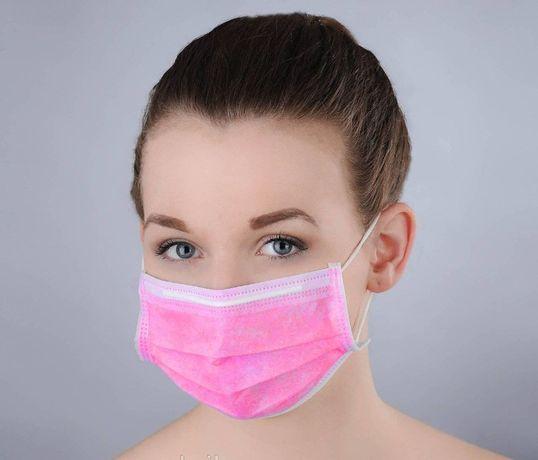 Трехслойная защитная маска из спанбонда Опт/Розница