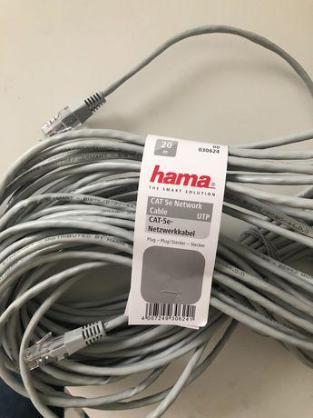 Kabel sieciowy ethernet 20m Hama