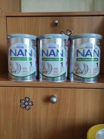 Nan кисломолочный 3 банки