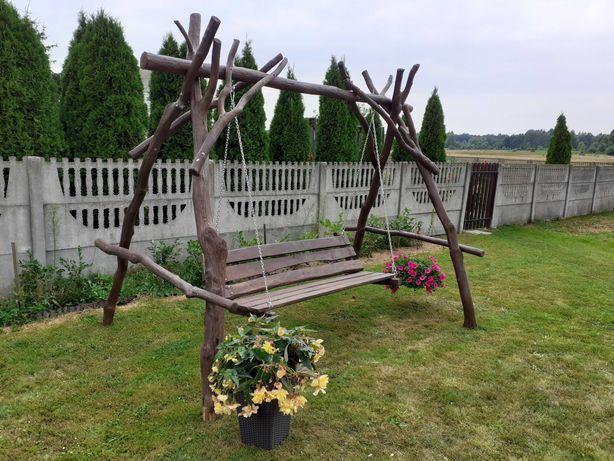 Huśtawka ogrodowa dębowa