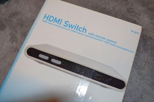 HDMI SWITCH 4 porty HDMI + pilot przełącznik
