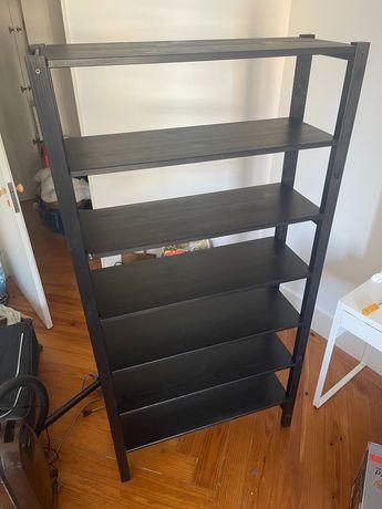 Estante de prateleiras IKEA - Tipo IVAR - Com prateleiras extras