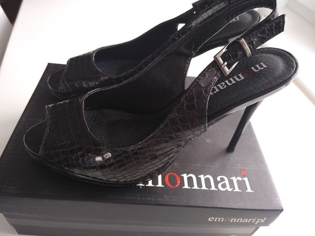 Czarne szpilki sandały Monnari