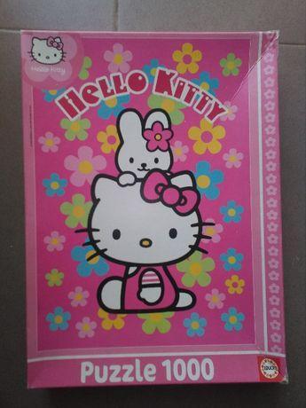Puzzle Hello Kitty (1000 peças) - Ótimo negócio para prenda Natal