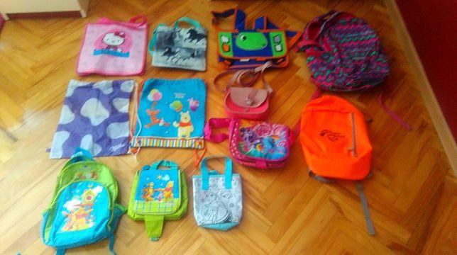 plecaki torby torebki dla dzieci 12szt za 20zł
