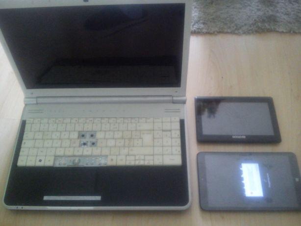 Laptop Packard Bell. Tablety Kiano Goclever. Sprawne i uszkodzone