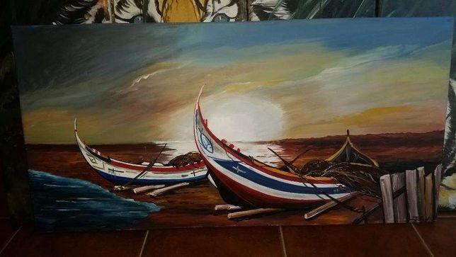 Pinturas a Oleo paisagens mar barcos etc