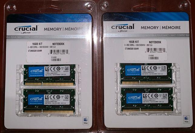 Память RAM 16GB (2x8GB) 32GB (4x8GB) PC3-10600 DDR3-1333 sodimm