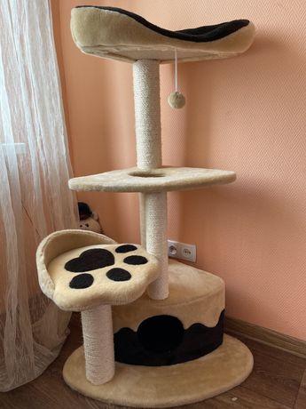 Игровой комплекс когтеточка домик для кота природа
