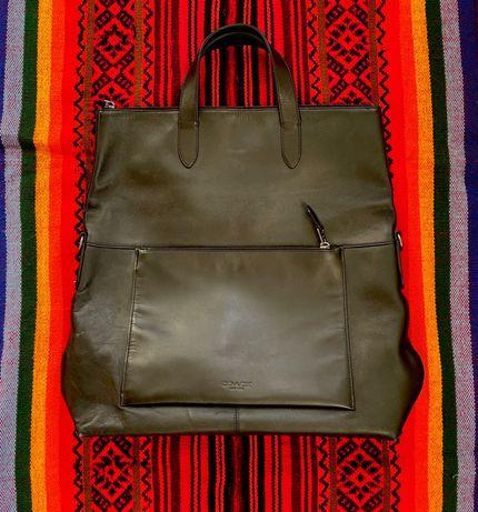 Кожаная мужская сумка Coach