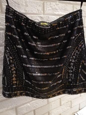 Spódnica spódniczka cekinową L