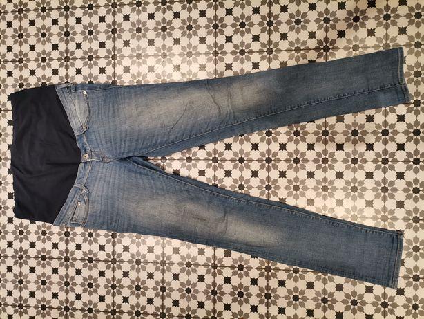 Spodnie ciążowe 40 jeansy h&m mama długie