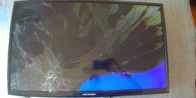 Led TV Microvision 32hd00v18-a ecrã partido