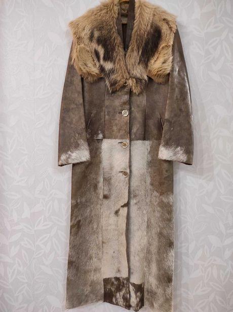 Продам натуральное кожаное пальто
