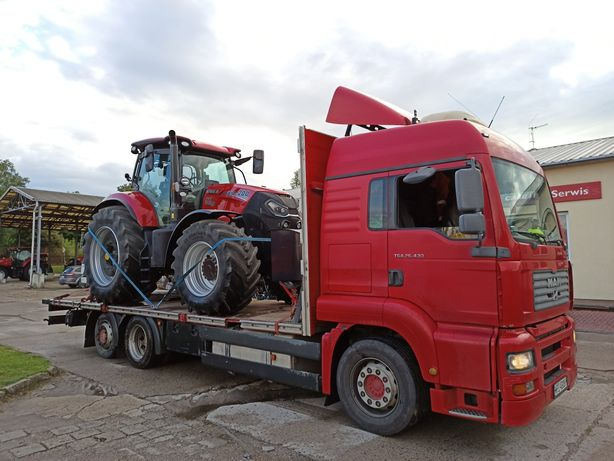Transport bel ciągników maszyn kombajnów laweta niskopodwoziowy ub OCP