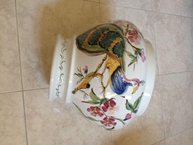 Vaso antigo pintado à mão em cerâmica, para plantas