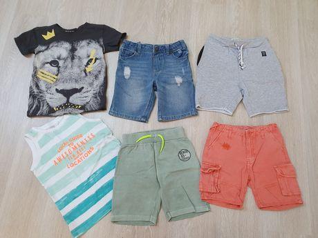 Krótkie spodenki, szorty, koszulka Reserved, Smyk, Cool Club paczka