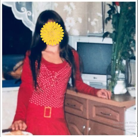 Красная туника платье