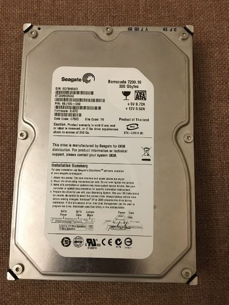 Жесткий диск Seagate 320GB 7200rpm 8MB ST3320820AS SATAII