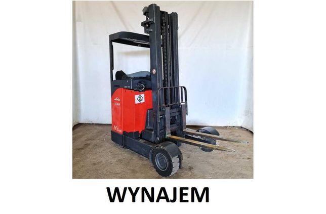 Wynajem wózek czołowy reachtruck boczny Linde R16G triplex 6,2m E16