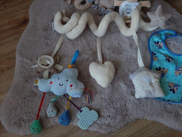Zabawka sensoryczna jellycat grzechotka guess sprężyna na  łóżeczko