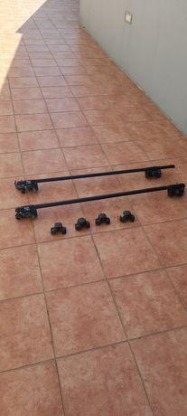 Barras tejadilho + proteção anti roubo